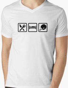 Eat Sleep Ping Pong Mens V-Neck T-Shirt