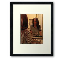 Face to face Framed Print