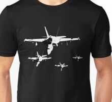 F-18 Fighter Jets in Formation Unisex T-Shirt