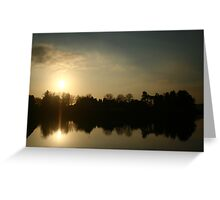 Sunset Symmetry Greeting Card