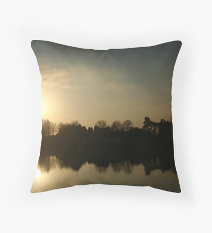 Sunset Symmetry Throw Pillow