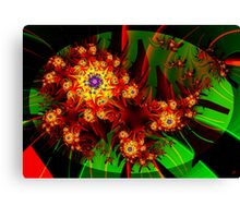 Fractal Dahlias Canvas Print