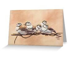 Double Bars on Wire Greeting Card