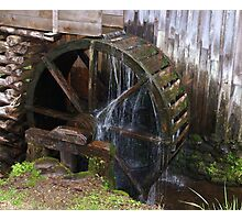 Mill Water Wheel Photographic Print
