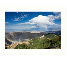 Squall over the Bingham Canyon Mine Art Print