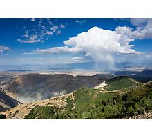 Squall over the Bingham Canyon Mine Photographic Print