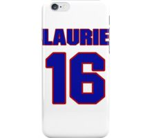 National Hockey player Laurie Boschman jersey 16 iPhone Case/Skin