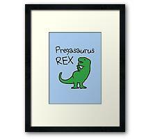 Pregasaurus Rex Framed Print