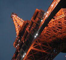 Eiffel Tower at Dusk by gayler