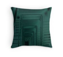 Steel staircase in the Baltic Throw Pillow