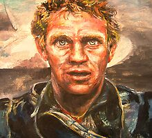 Watercolor-Steve McQueen, SOLD 12/10/10 by Barbara Sparhawk