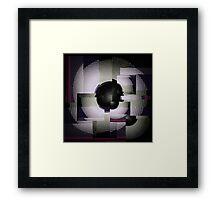 Glitch Tunnel Framed Print
