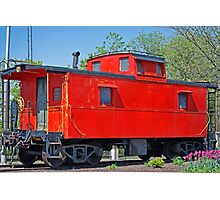 Little Red Caboose Photographic Print