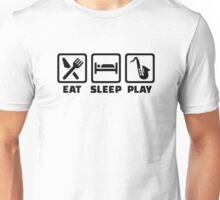 Eat Sleep Play Saxophone Unisex T-Shirt