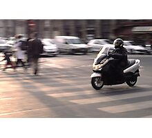 Moped in Paris Photographic Print