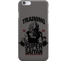 Training to go Super Saiyan iPhone Case/Skin