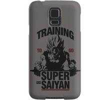 Training to go Super Saiyan Samsung Galaxy Case/Skin
