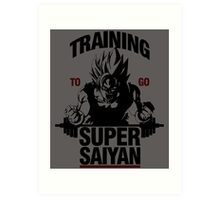 Training to go Super Saiyan Art Print