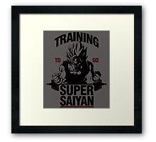 Training to go Super Saiyan Framed Print