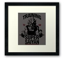 Training to go Super Saiyan Framed Print