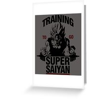 Training to go Super Saiyan Greeting Card
