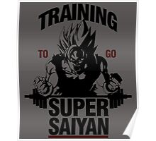 Training to go Super Saiyan Poster