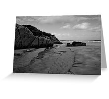 Anagry Beach, Co Donegal B/W Greeting Card