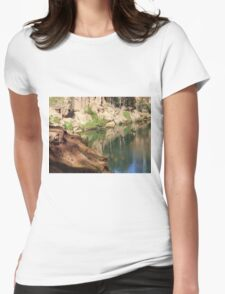 Tranquil River Womens Fitted T-Shirt