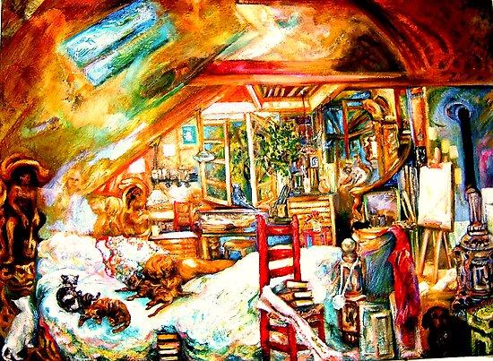 The Studio & Spirits Dream by Barbara Sparhawk