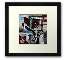 Blood, Bone, and Soul #1 (Mixed Material Assemblage)- Framed Print