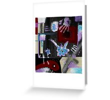 Blood, Bone, and Soul #2 (Mixed Material Assemblage)- Greeting Card
