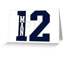 12th Man Seahawks Greeting Card
