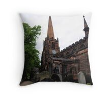Aston Parish Church Throw Pillow