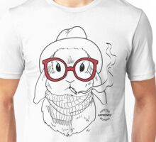 Hipster Bunny Unisex T-Shirt