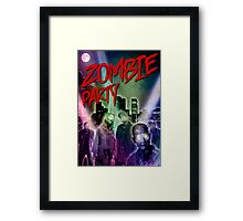 Zombie Party Framed Print
