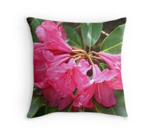 """Red Flowers"" Throw Pillow"