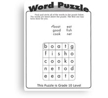 Word Puzzle Canvas Print