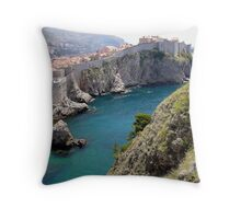 Dubrovnic Old town wall Throw Pillow