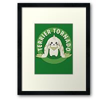 Terrier Tornado Framed Print