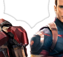 Iron Man and Captain America  Sticker