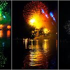 Fireworks and water. Triptych by andreisky