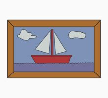 Sail Boat Artwork Kids Tee