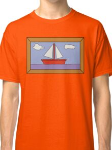 Sail Boat Artwork Classic T-Shirt