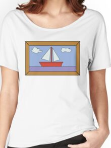 Sail Boat Artwork Women's Relaxed Fit T-Shirt