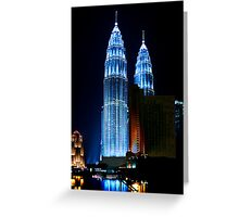 Towering Reflections Greeting Card