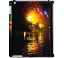 Fireworks and water. Triptych iPad Case/Skin