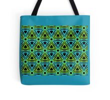 GEOMETRIC design, textiles blue, green Tote Bag