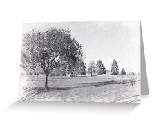 computer B & W pencil sketch park picture, Canada. photo art. Greeting Card
