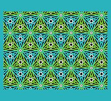 Blue and green, GEOMETRIC DESIGN by ackelly4