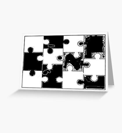 Fill in Puzzle Greeting Card